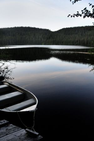Boat on Glassy Lake.jpg